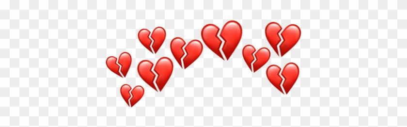 Emoji Iphoneemoji Heart Hearts Heartbroken Heartsbroken - Heart Clipart #798957