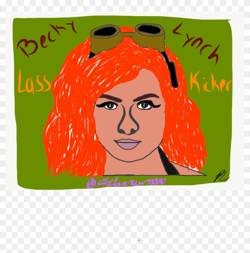 Becky Lynch Wwe Art Straight Fire Lass Kicker Phelannewman - Illustration Clipart #799016