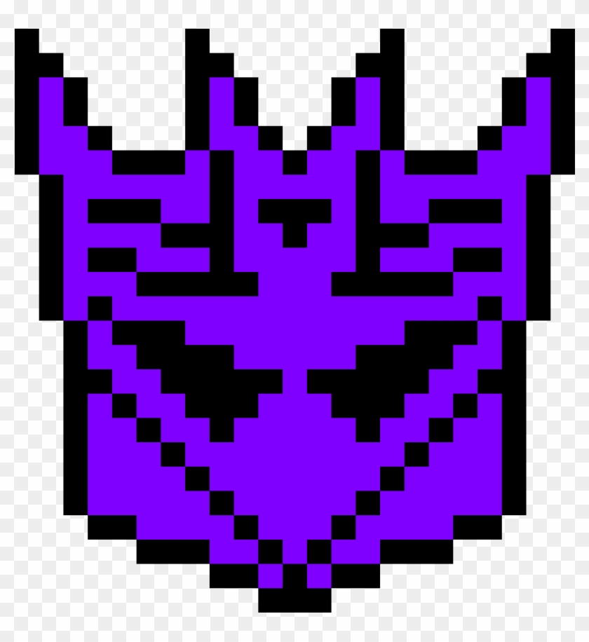 Perler Patterns Transformers , Png Download - Pixel Art Decepticon Symbol Clipart #799243