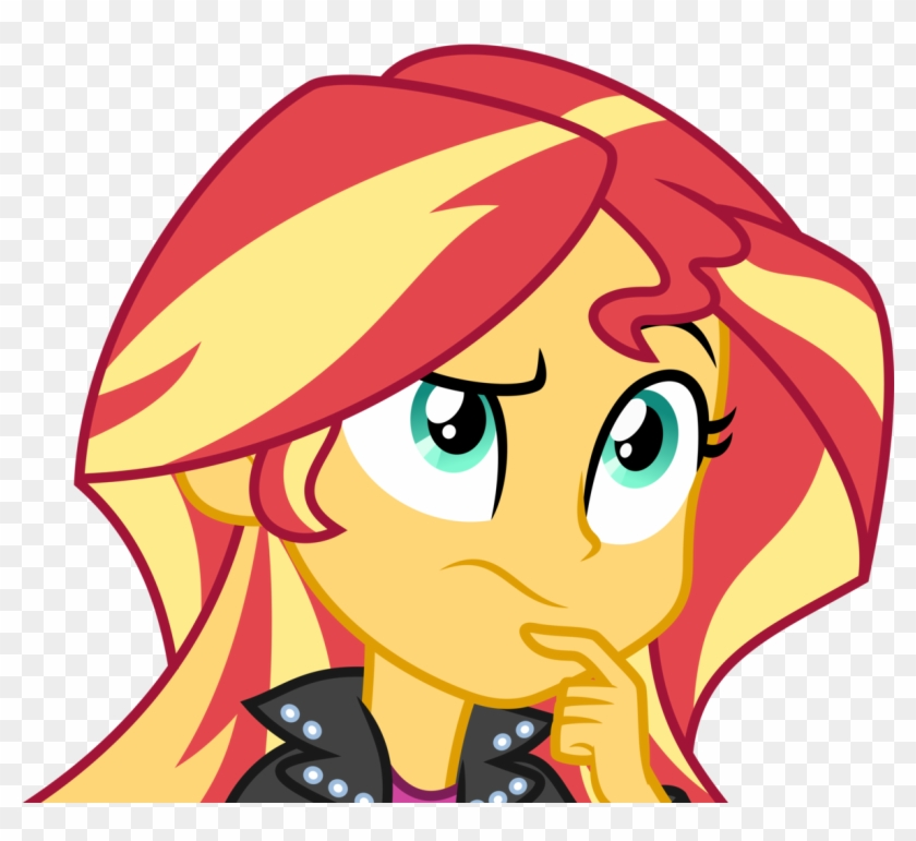 Thought Clip Art Thinking Woman Source - Equestria Girls 3 Sunset Shimmer - Png Download #799601
