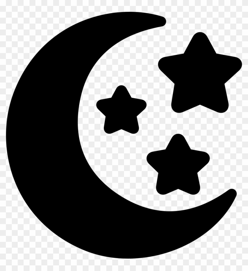 Png Transparent Stock Moon And Stars Png Icon Free - Moon And Stars Svg Clipart #80516