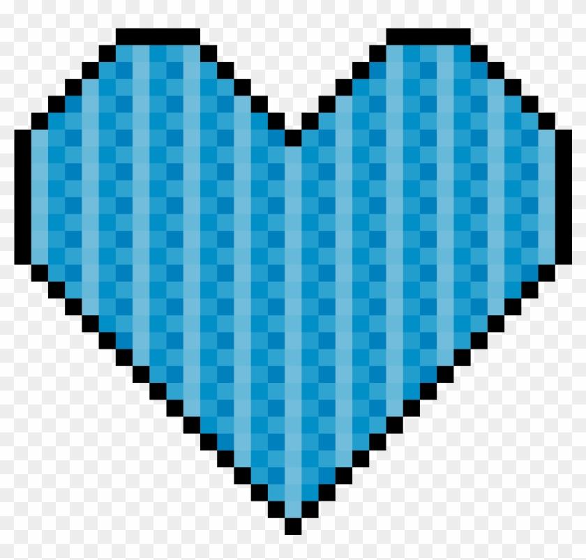 Blue Pixel Art Heart - Pixel Art Cute Emoji Clipart #82572