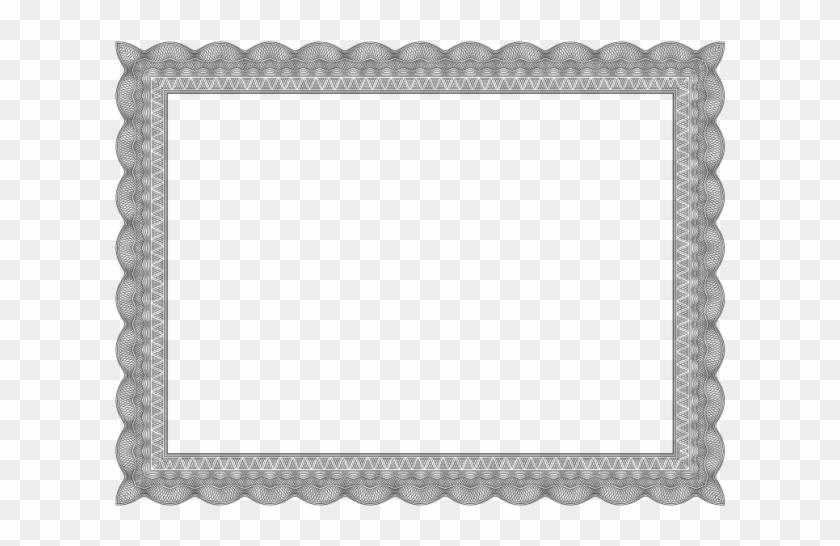 Black Certificate Border - Boarder Certificate Frame Design Clipart #83638