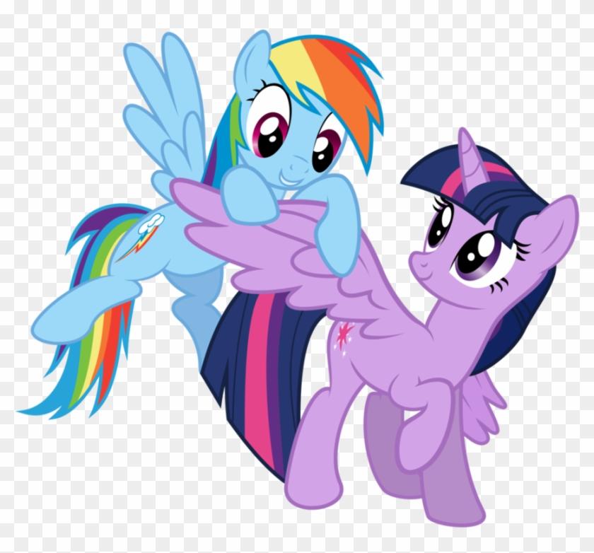 twilight sparkle y rainbow dash de my little pony te  my
