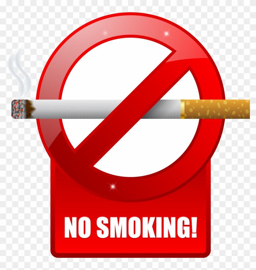 No Smoking Warning Sign Png Png Images - 3d No Smoking Sign Clipart #84724
