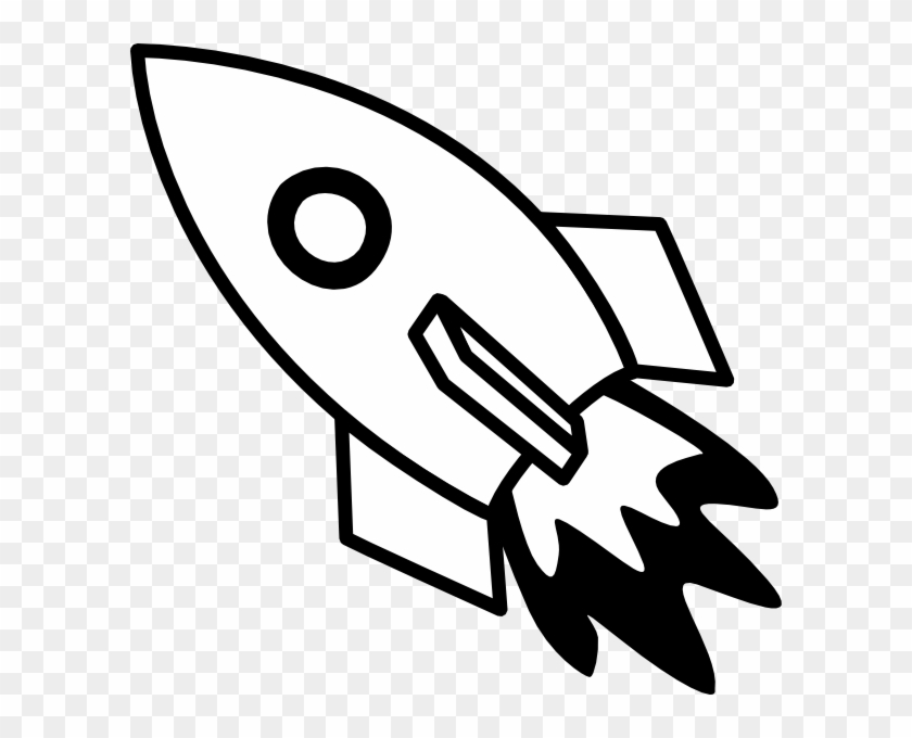 Black And White Rocket Fire Svg Clip Arts 600 X 600 - Png Download #85020