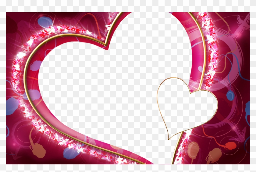 Love Heart Png - Love Heart Frame Png Clipart #86011