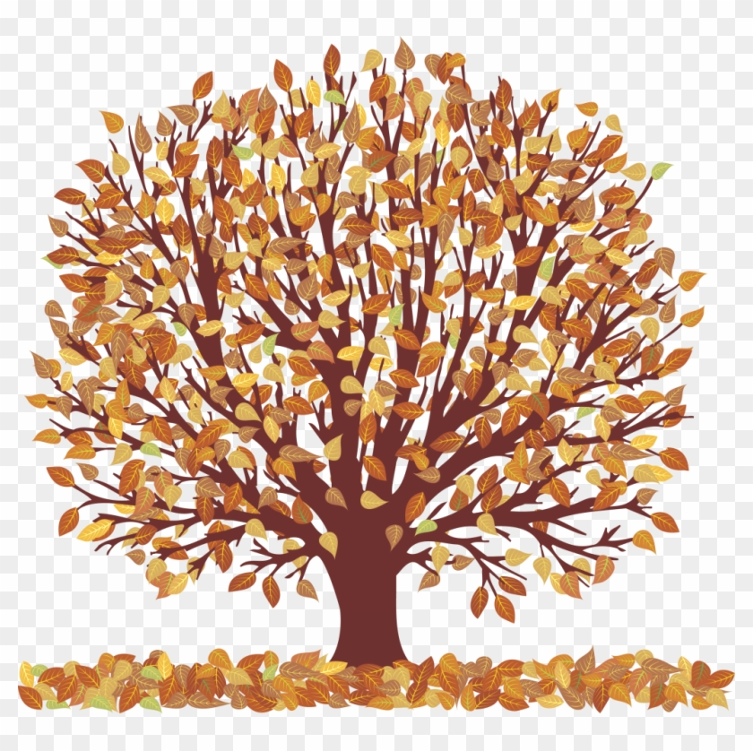 Falling Leaves Transparent Transparent Png Pictures - Tree With Falling Leaves Transparent Clipart #87030