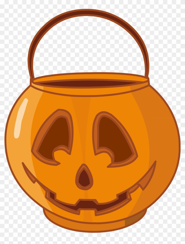 Halloween Pumpkin Basket Png Clipart, Is Available - Jack O Lantern Basket Transparent Png #87460