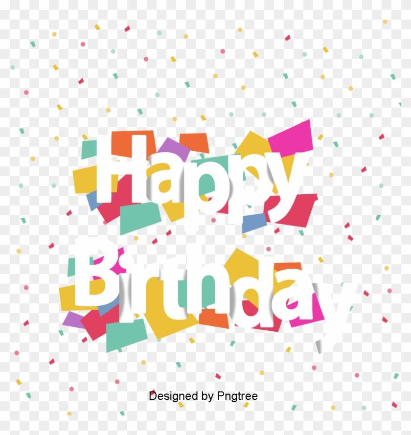 Happy Birthday Vector English - Happy Birthday Cb Background Clipart #800184