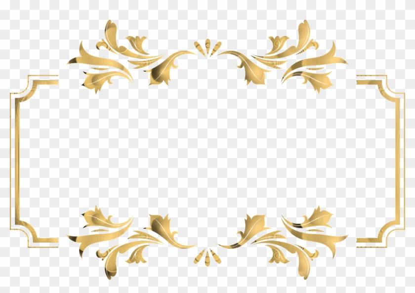 Frame Vintage Ornate Swirl Retro Design Gold Vintage