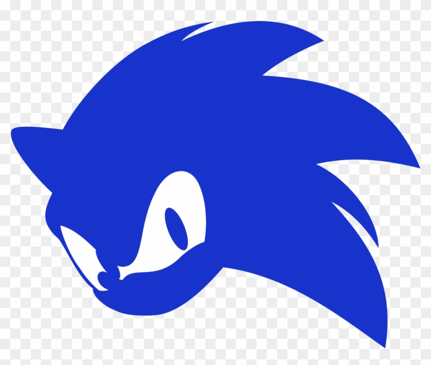 Sonic Logo Sonic The Hedgehog Silhouette Png Clipart 807391 Pikpng