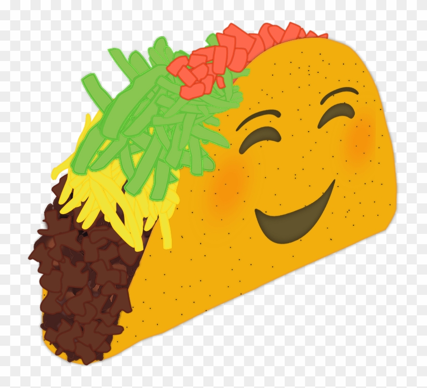 Picture Of A Sticker With A Taco From A Diagonal Side - Taco Emoji Clipart #809280