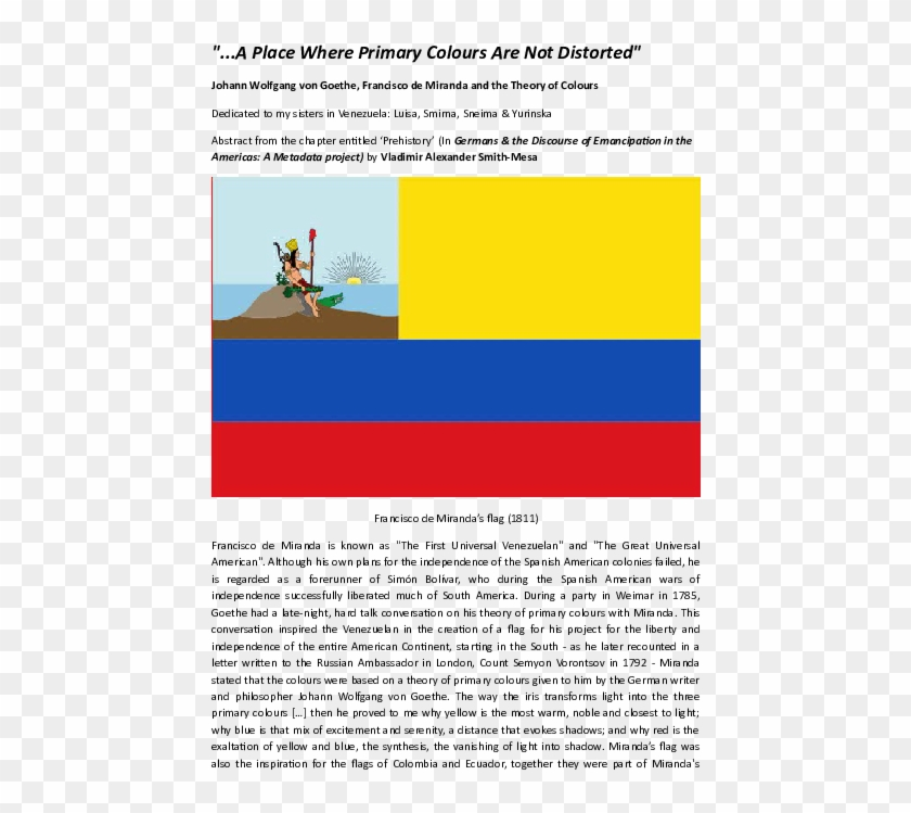 "Docx - "" - - Bandera De Venezuela De 1811 Clipart #814045"