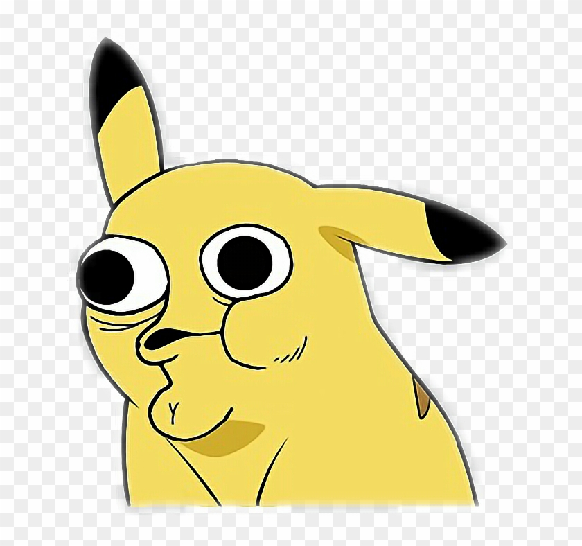 Derp Sticker - Pikachu Meme Face Png Clipart (#815147 ...