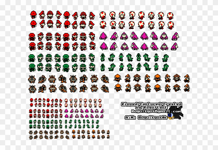 Characters Baby Mario Sprites Clipart 815643 Pikpng