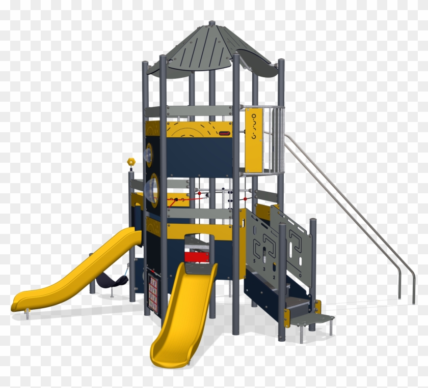 Mega Deck Tower With Upper Deck, Physical, Plastic - Top View Play Tower Png Clipart #818047