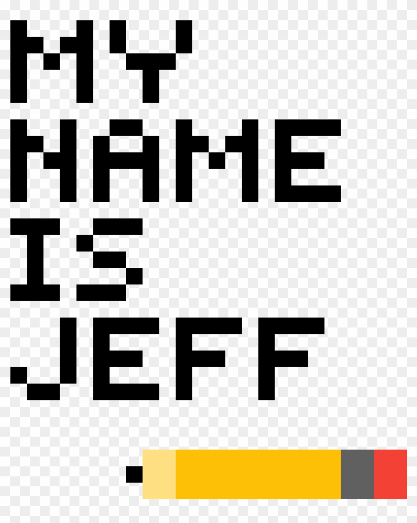 My Name Is Jeff - Game Over Pixel Png Clipart #819009