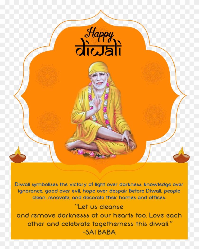 Shirdi Sai Baba Happy Diwali Greetings Wallpapers Free