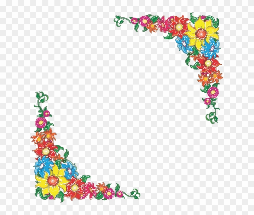 Flowery Border Background Vector - Mexican Flowers Clipart Border - Png Download #830270