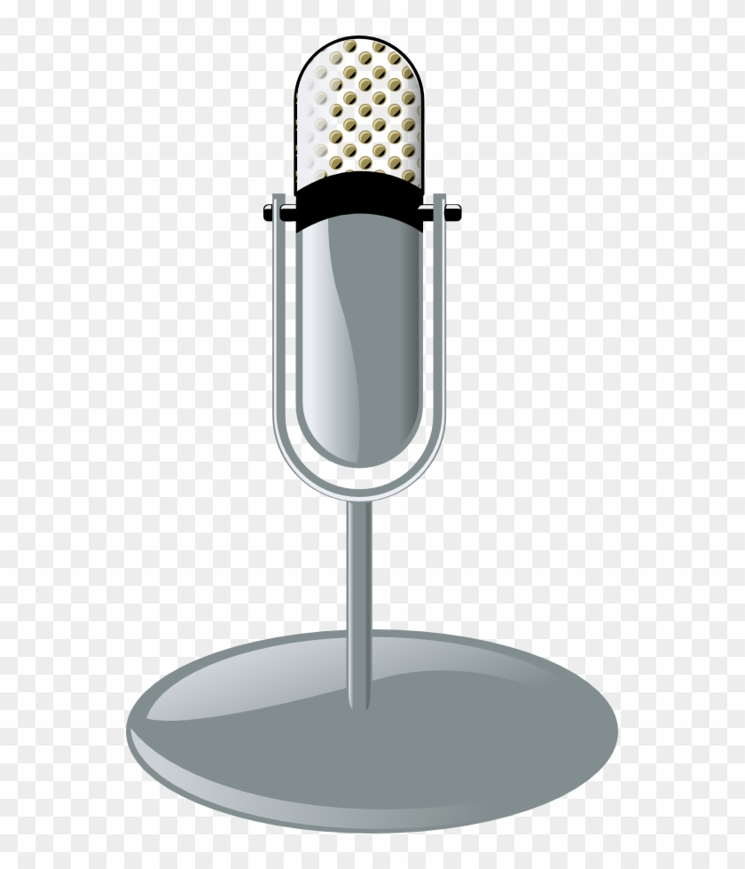 Old Microphone Cleanup Style Black White Line Art Musical - Microphone Clip Art - Png Download #836440