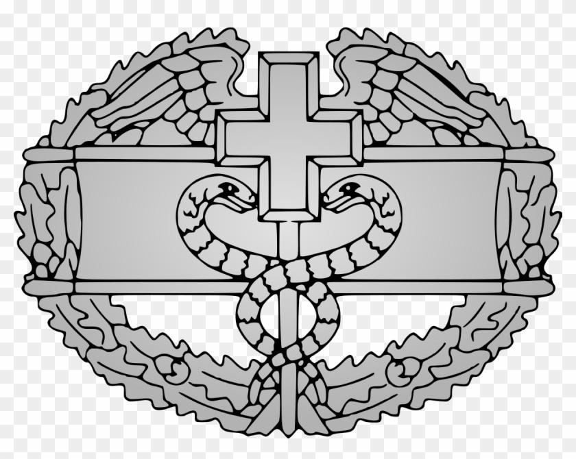 Combat Medical Badge - Combat Medic Badge Clip Art - Png Download #837498