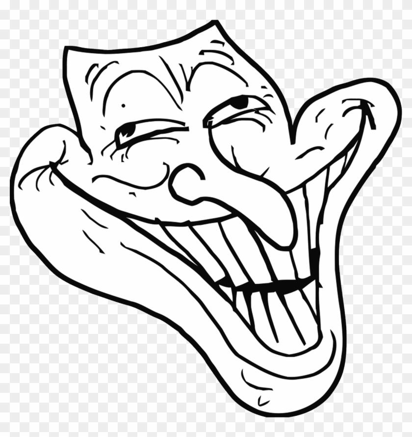 Trollface Png Transparent - Weird Troll Face Clipart #837651