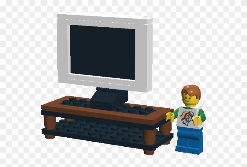 Lego Plasma Screen Tv Television De Lego Clipart 840365 Pikpng