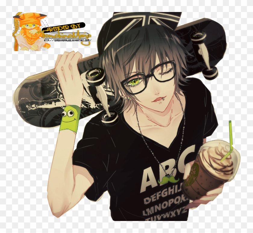 Anime Boy With Skateboard Clipart 841572 Pikpng