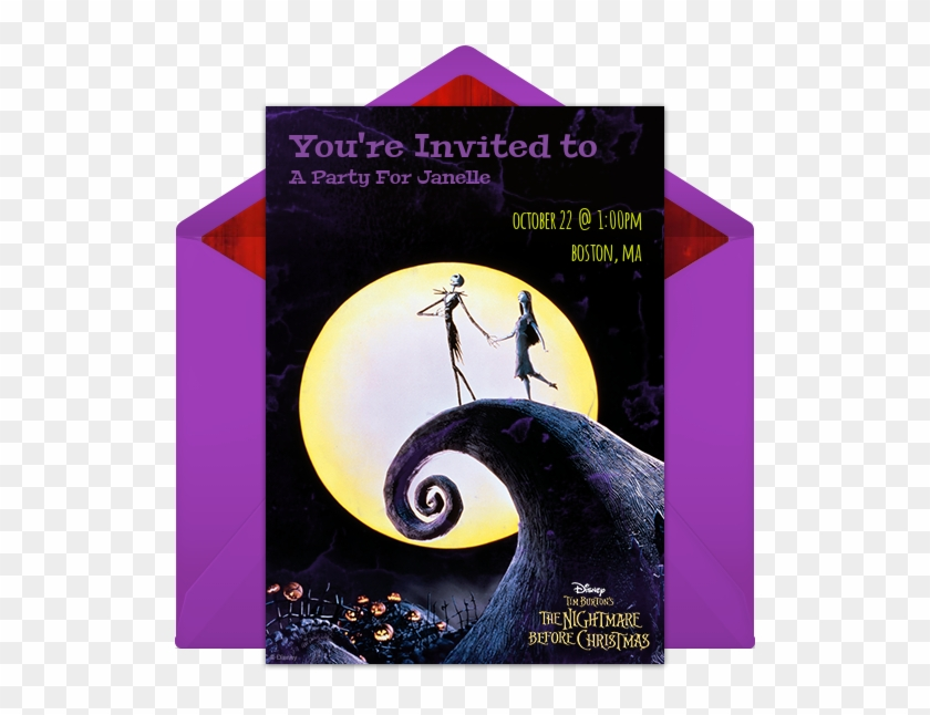 The Nightmare Before Christmas Online Invitation - Nightmare Before Christmas 25 Years Clipart #849268
