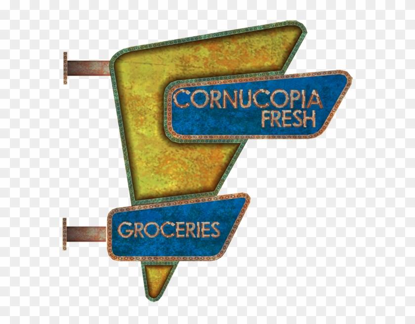 Cornucopia Fresh Groceries - Sign Clipart #851804
