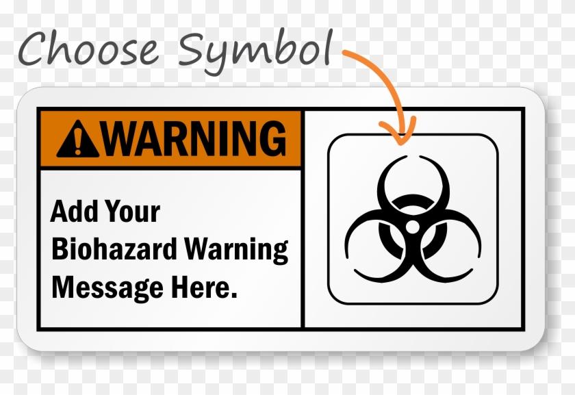 Custom Ansi Warning Sign - Biohazard Sign Printable Clipart #852451