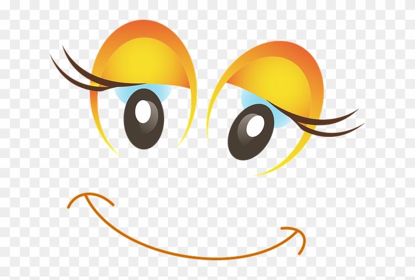 Happy, Female, Woman, Girl, Smiley, Emoticon, Emoji - Smiley Funny Clipart #856225