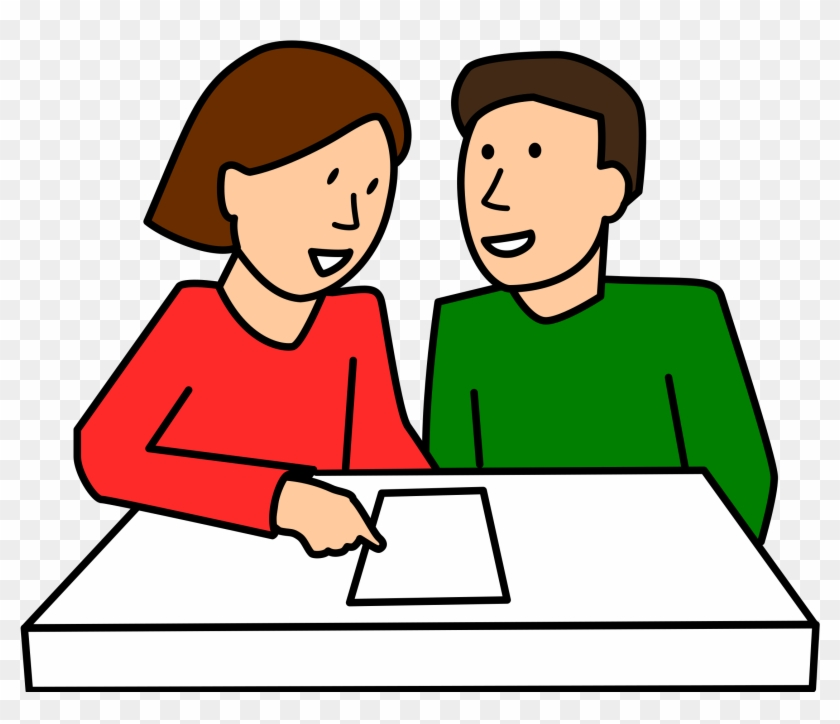 Pair Clipart Talking Partner - People Asking For Help - Png Download #856480