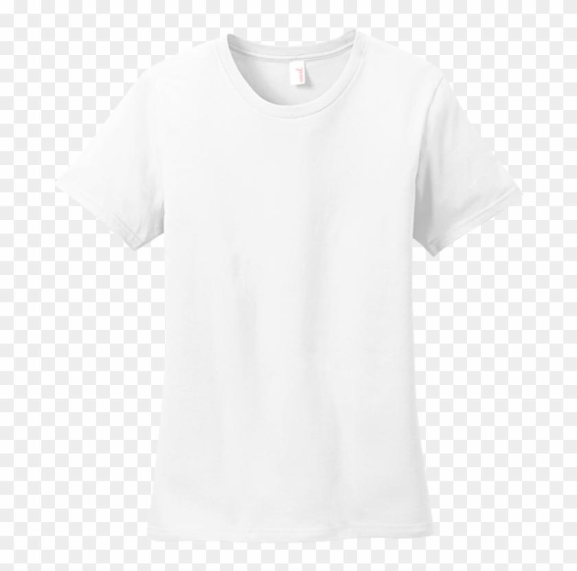 Anvil Ladies 100 Ring Spun Cotton T - Plain White T Shirt Jersey Clipart #860740