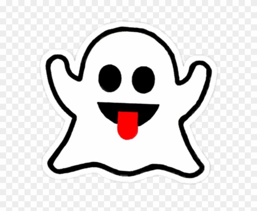 Boo Ghost Cute White Kawaii Black Emot Snapchat Aesthet - Brandy Melville Ghost Sticker Clipart #862190
