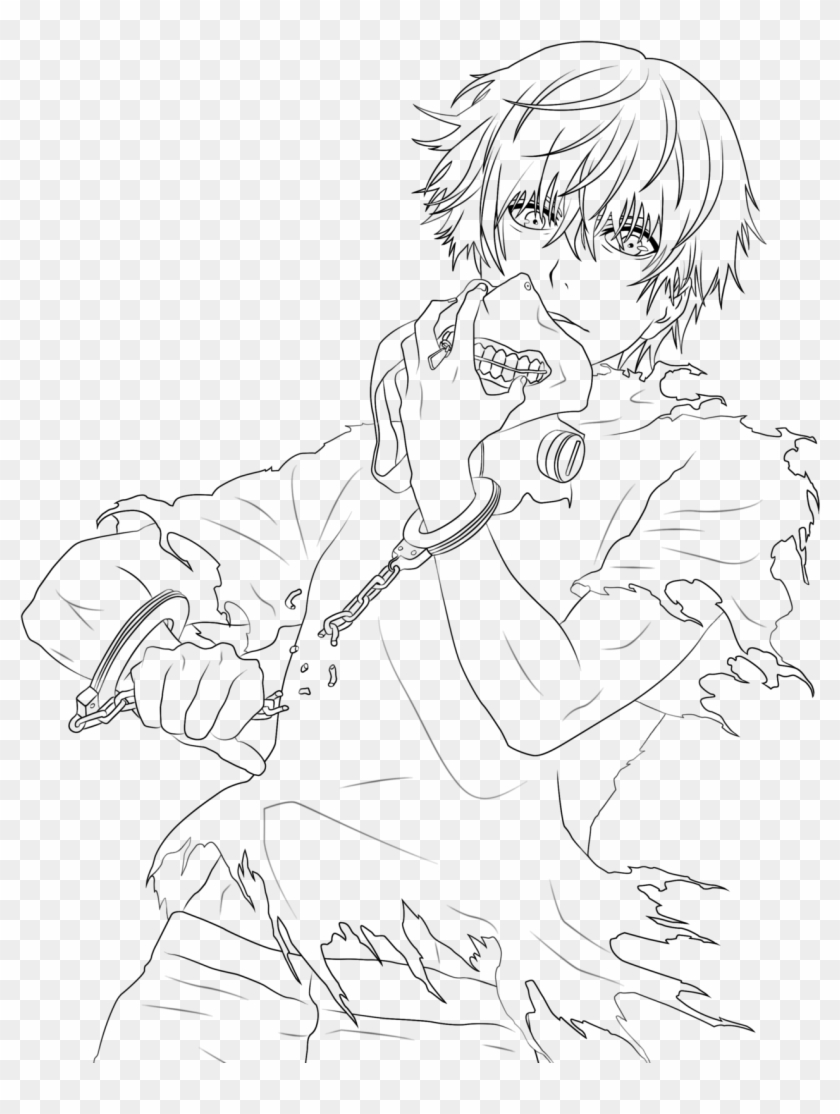Revealing Tokyo Ghoul Coloring Pages Drawing Free For - Tokyo Ghoul Kaneki Line Art Clipart #866183