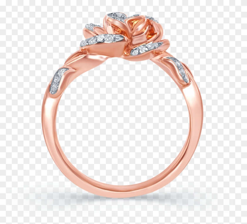 Disney Enchanted Belle - Beauty And The Beast Rose Gold Rose Ring Clipart #875538
