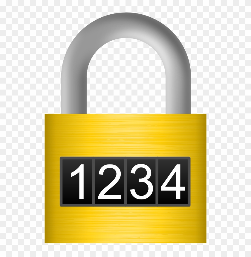 Free Combination Lock - Padlock Combination Clipart - Png Download #888510
