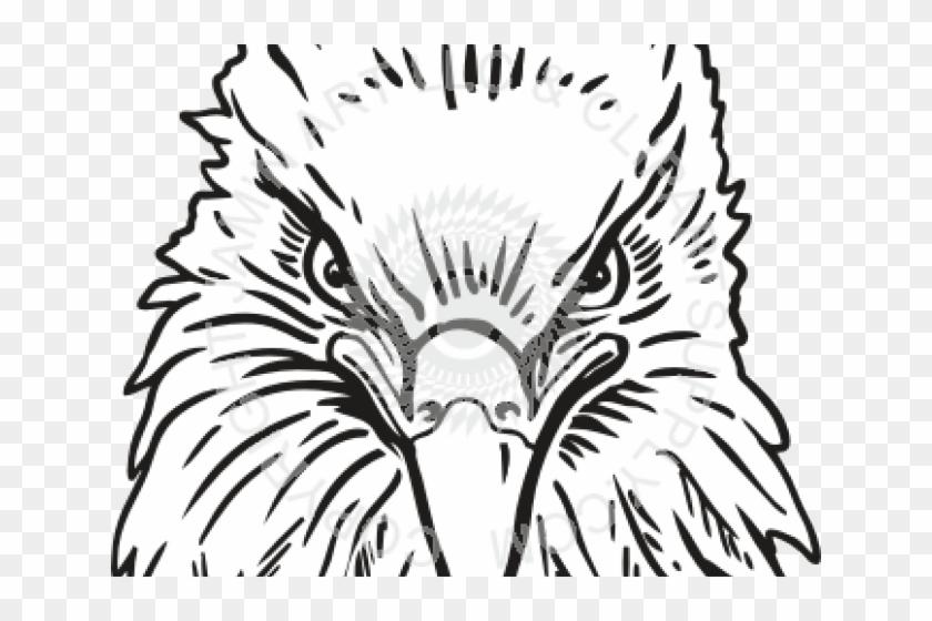 Drawn Eagle Head - Eagle Head Front View Clipart #895917
