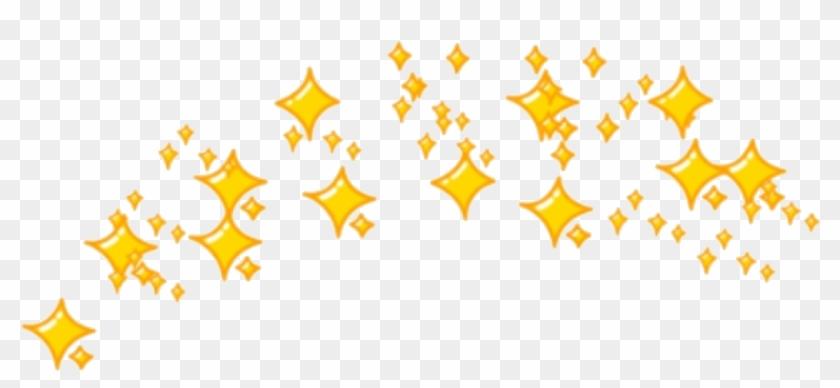 Sticker Sparkles Emoji Crown Yellow Yellowtheme Sparkle - Star Emoji Crown Png Clipart #91935