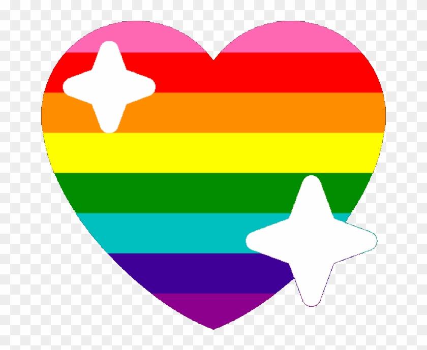 Original Lgbtq Sparkle Heart Discord Emoji - Discord Gay Heart Emoji Clipart #92151