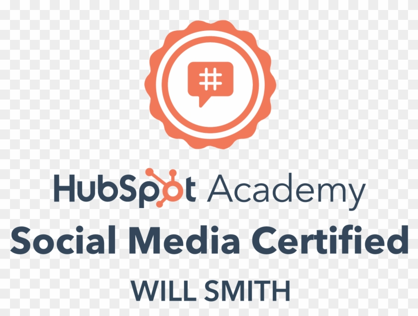 Will Loves To Talk All Things Hubspot And Can Help - Hubspot Social Media Certification Badge Clipart #92571