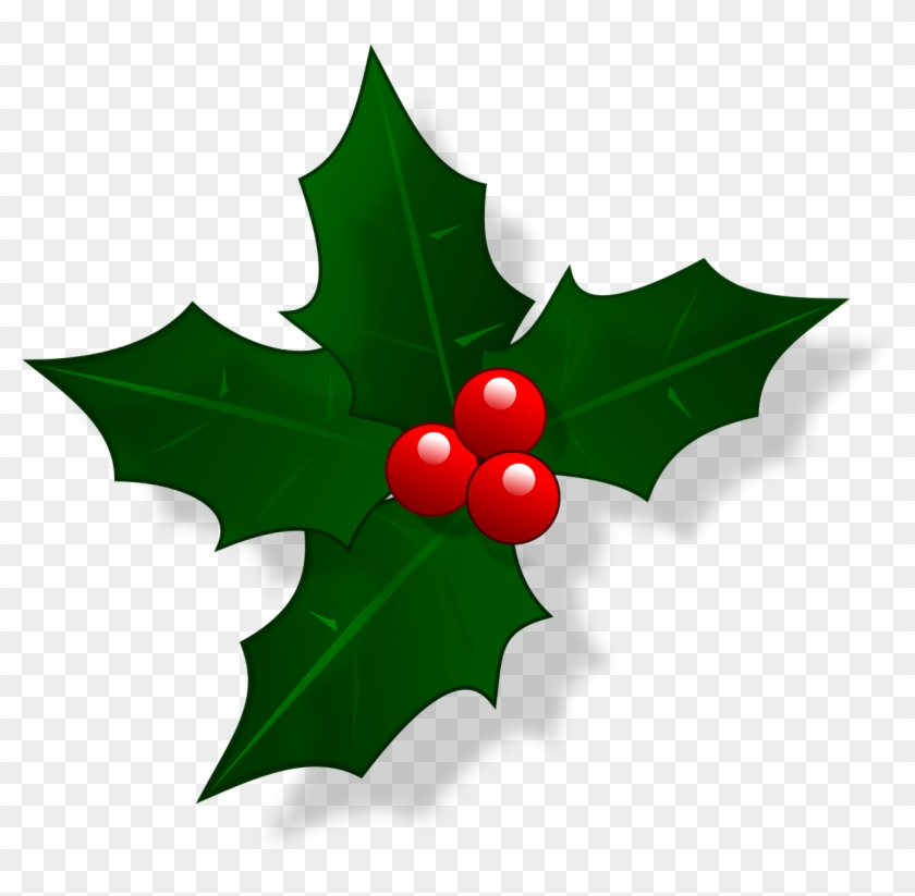 Holly Leaf Png - Christmas Holly Png Clipart #97167