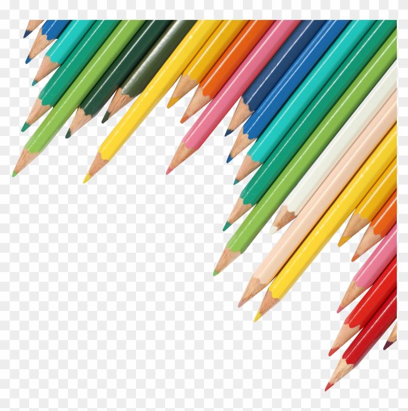 Coloured Pencils Transparent Background - Coloured Pencils No Background Clipart #99228