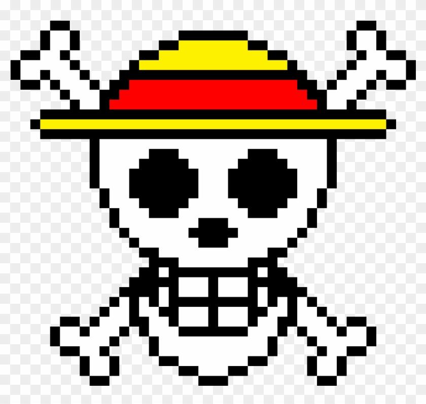 One Piece Symbol - Pixel Art Luffy Minecraft Clipart #915511
