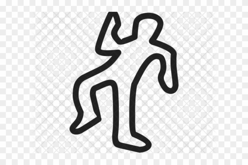 Deadth Clipart Dead Body Outline - Clip Art Dead Body - Png Download #916750
