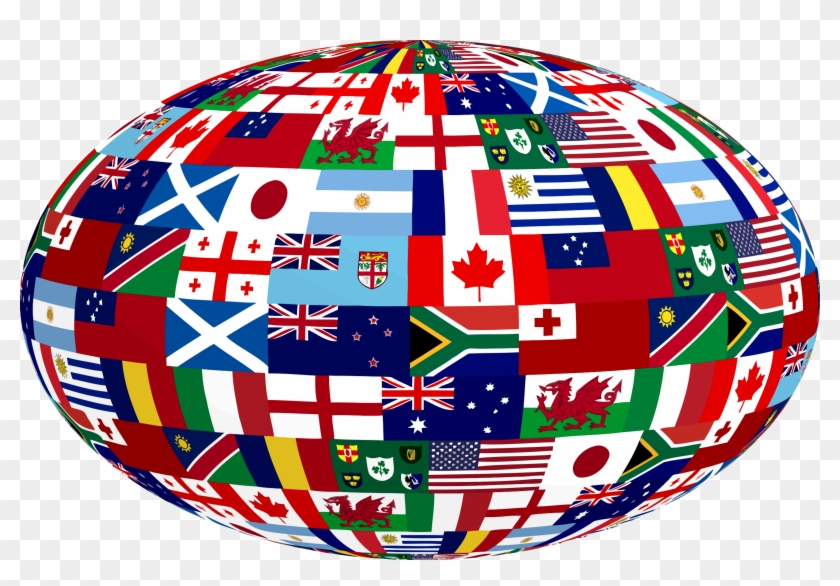 This Free Icons Png Design Of 3d Rugby Nations Ball Clipart #917979