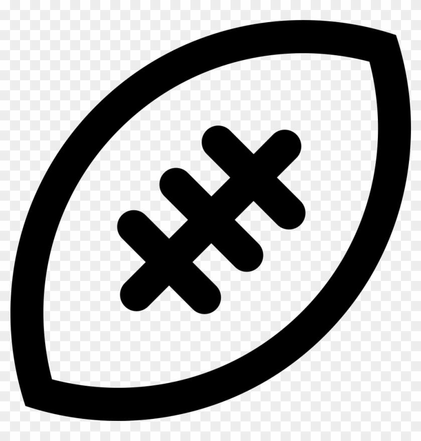 Rugby Ball Comments - Balon Futbol Americano Icono Clipart #918157
