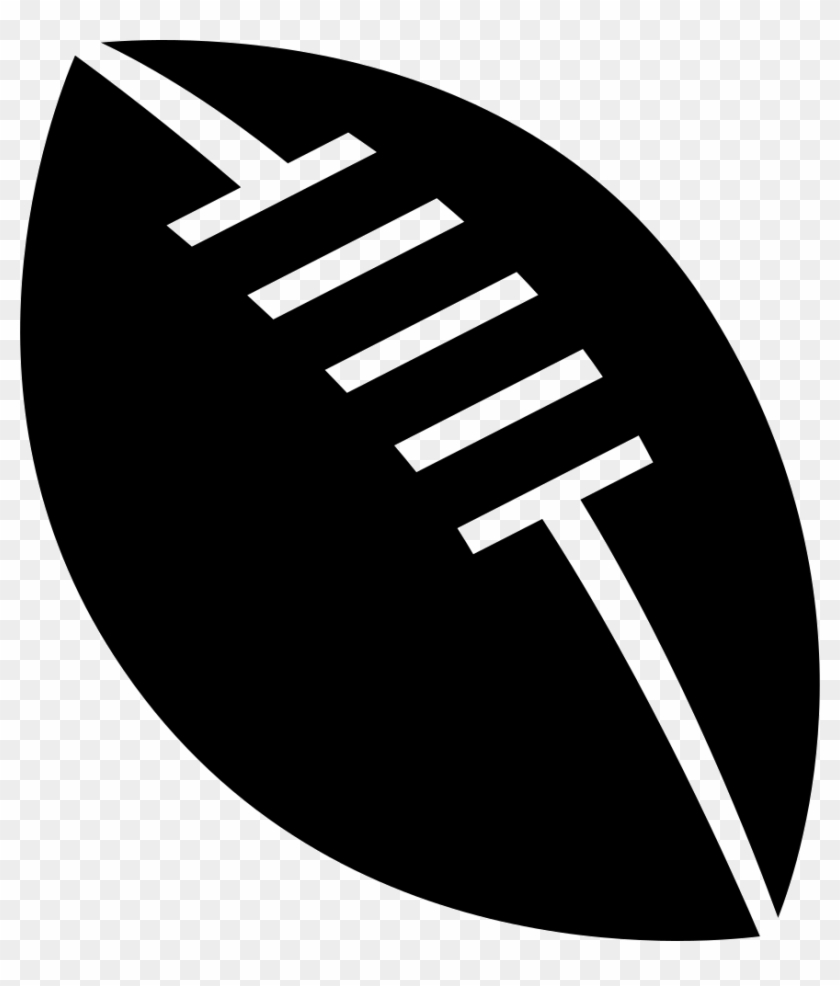 Rugby Ball With White Details Comments - Rugby Ball Icon Png Clipart #918533